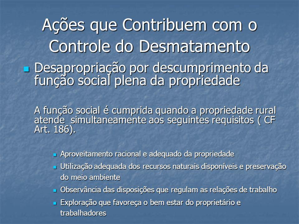 Ações que Contribuem com o Controle do Desmatamento