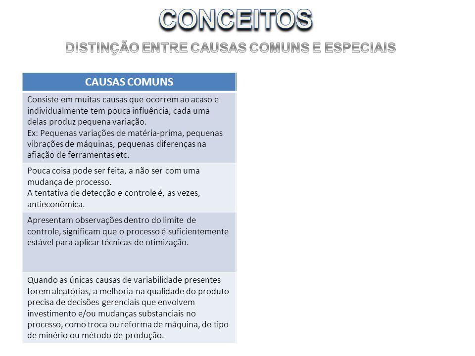DISTINÇÃO ENTRE CAUSAS COMUNS E ESPECIAIS