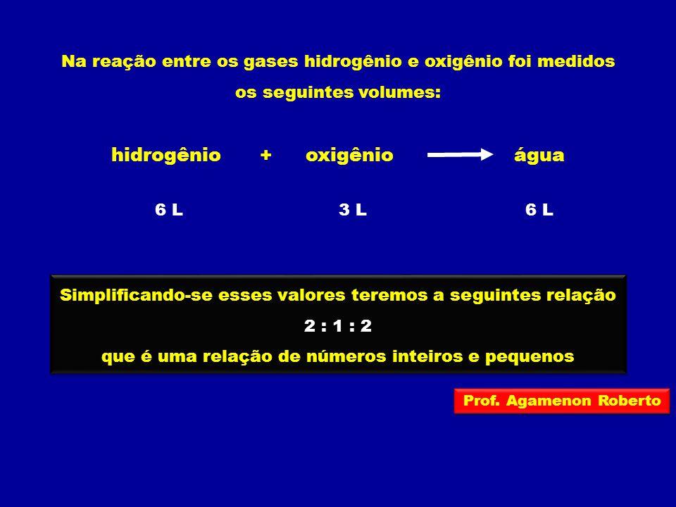 hidrogênio oxigênio água +