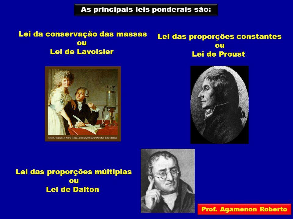 As principais leis ponderais são: