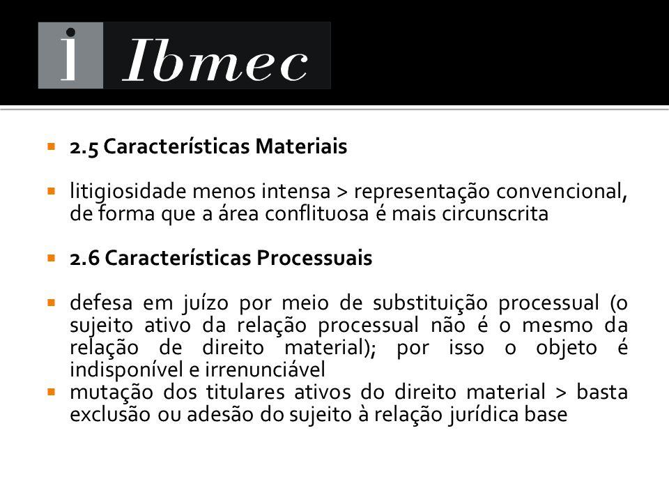 2.5 Características Materiais