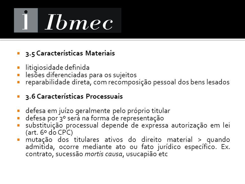 3.5 Características Materiais