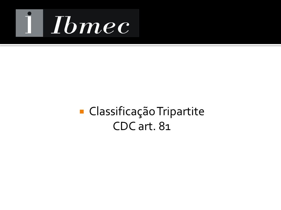 Classificação Tripartite