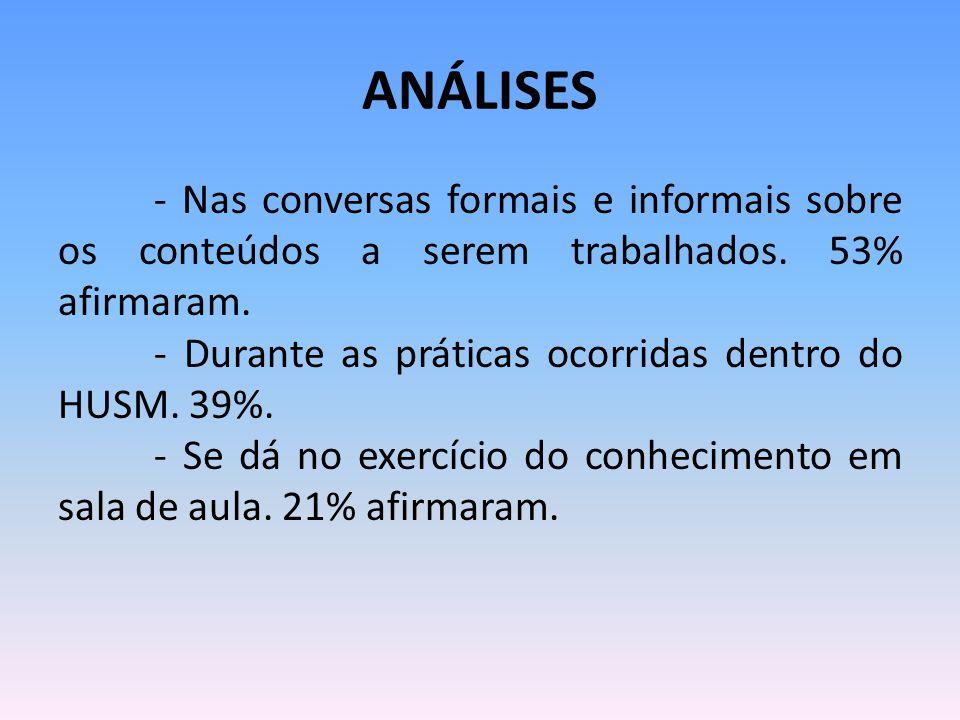 ANÁLISES