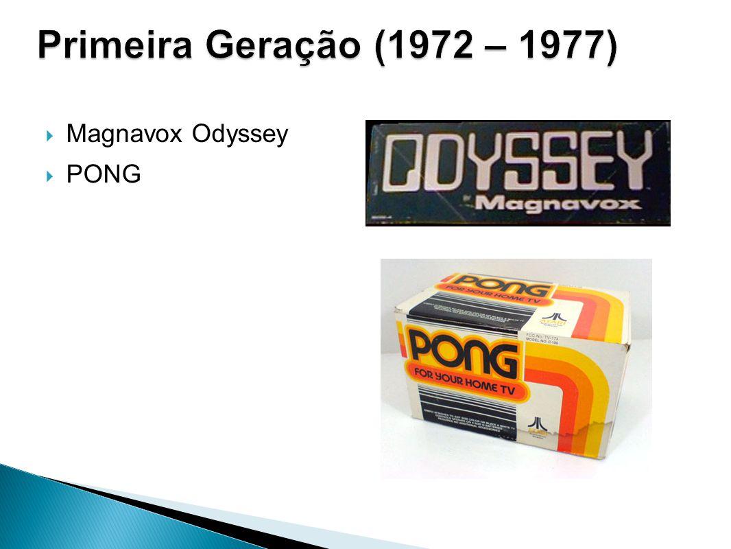 Primeira Geração (1972 – 1977) Magnavox Odyssey PONG