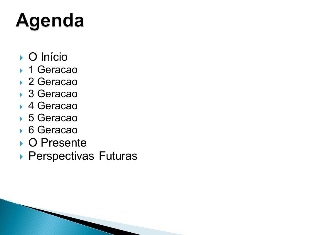 Agenda O Início O Presente Perspectivas Futuras 1 Geracao 2 Geracao