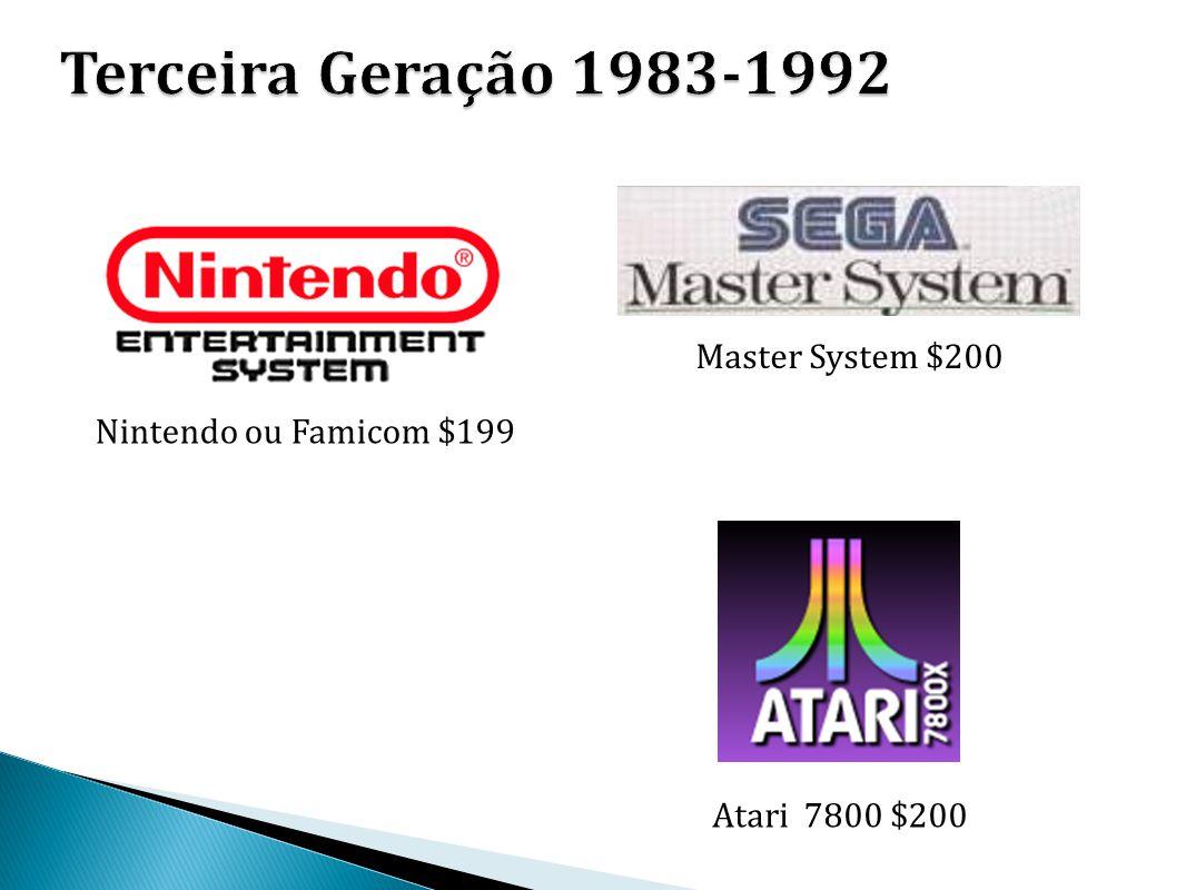 Terceira Geração 1983-1992 Master System $200 Nintendo ou Famicom $199
