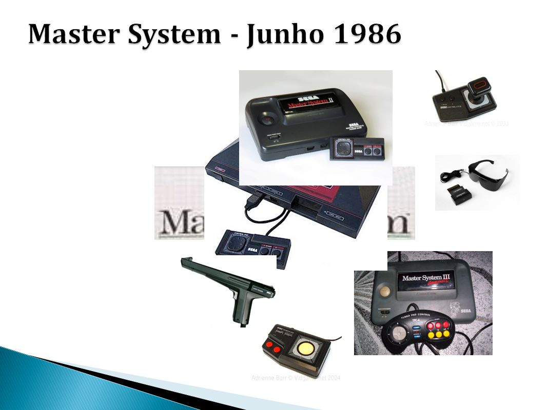Master System - Junho 1986 - SEGA MASTER SYSTEM CPU: 8-bit