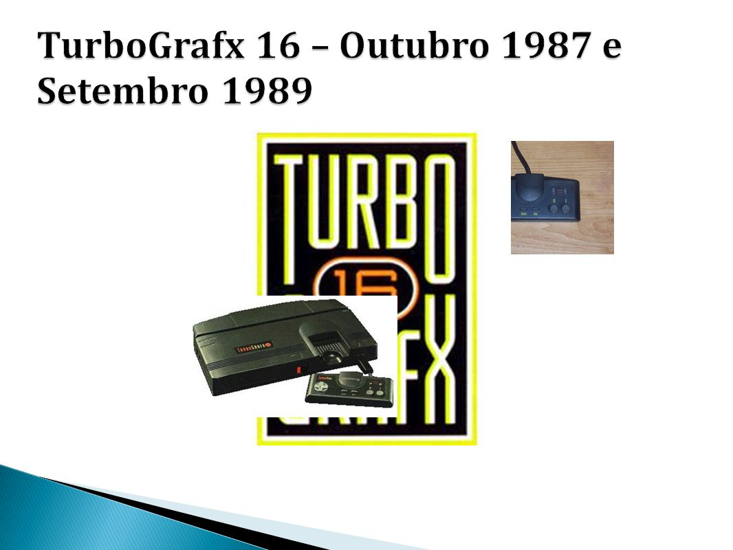 TurboGrafx 16 – Outubro 1987 e Setembro 1989