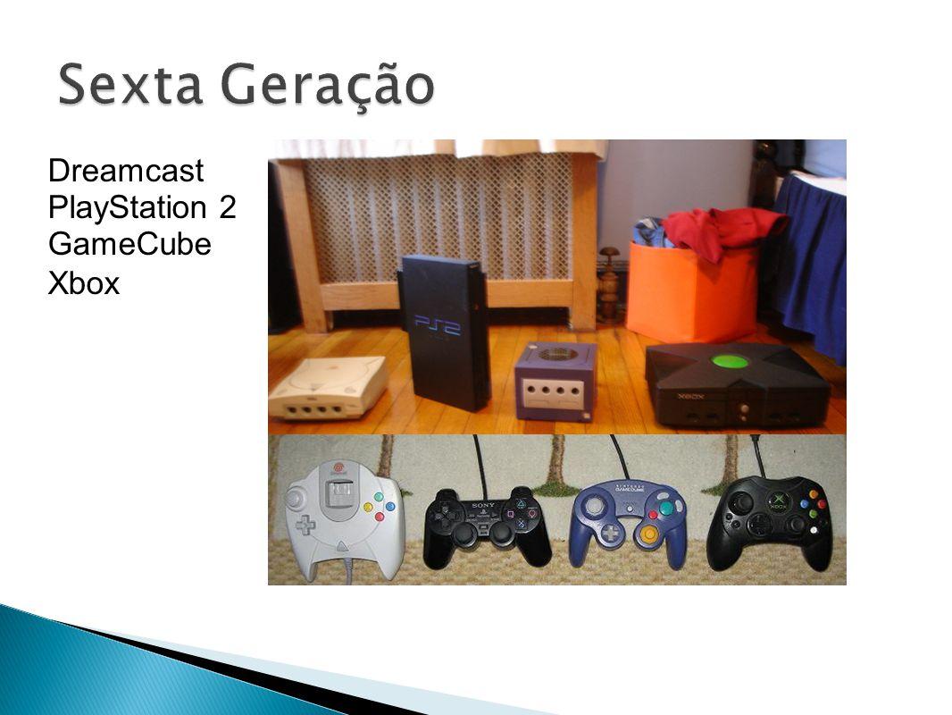 Sexta Geração Dreamcast PlayStation 2 GameCube Xbox