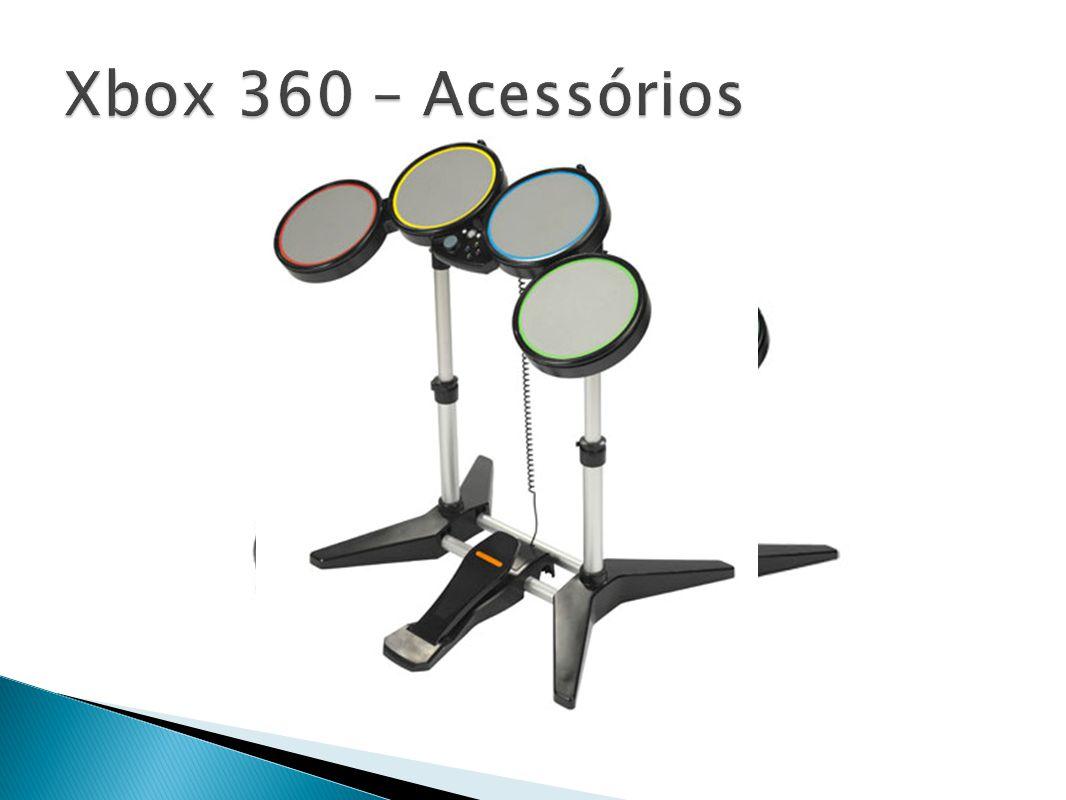 Xbox 360 – Acessórios Rockband foi lançado em Novembro de 2007 pra XBOX 360 e pra PS3, depois saindo pra PS2 e Wii.