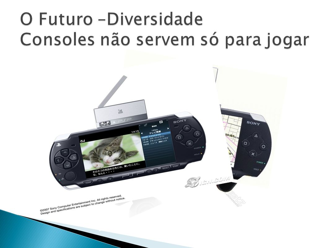 O Futuro –Diversidade Consoles não servem só para jogar