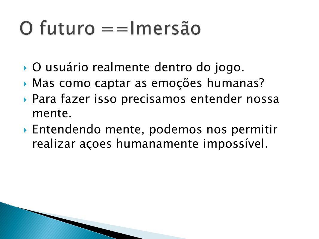 O futuro ==Imersão O usuário realmente dentro do jogo.