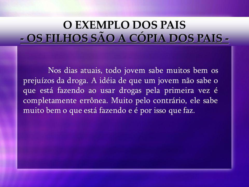 - OS FILHOS SÃO A CÓPIA DOS PAIS -