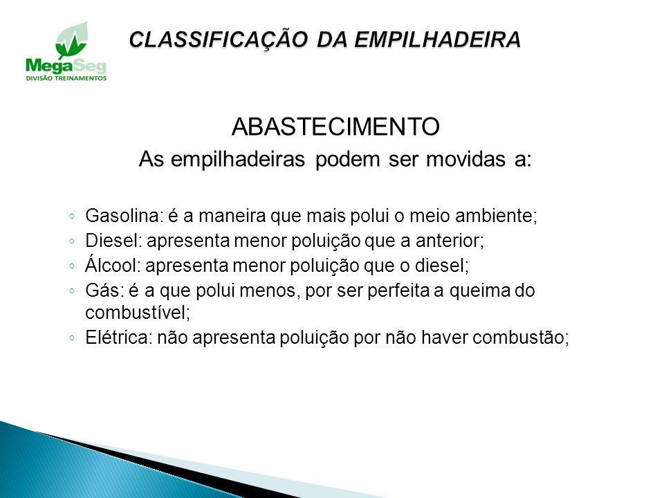 CLASSIFICAÇÃO DA EMPILHADEIRA