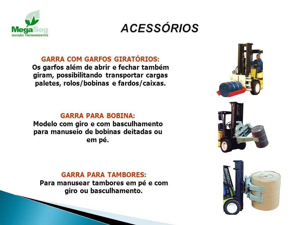ACESSÓRIOS GARRA COM GARFOS GIRATÓRIOS: