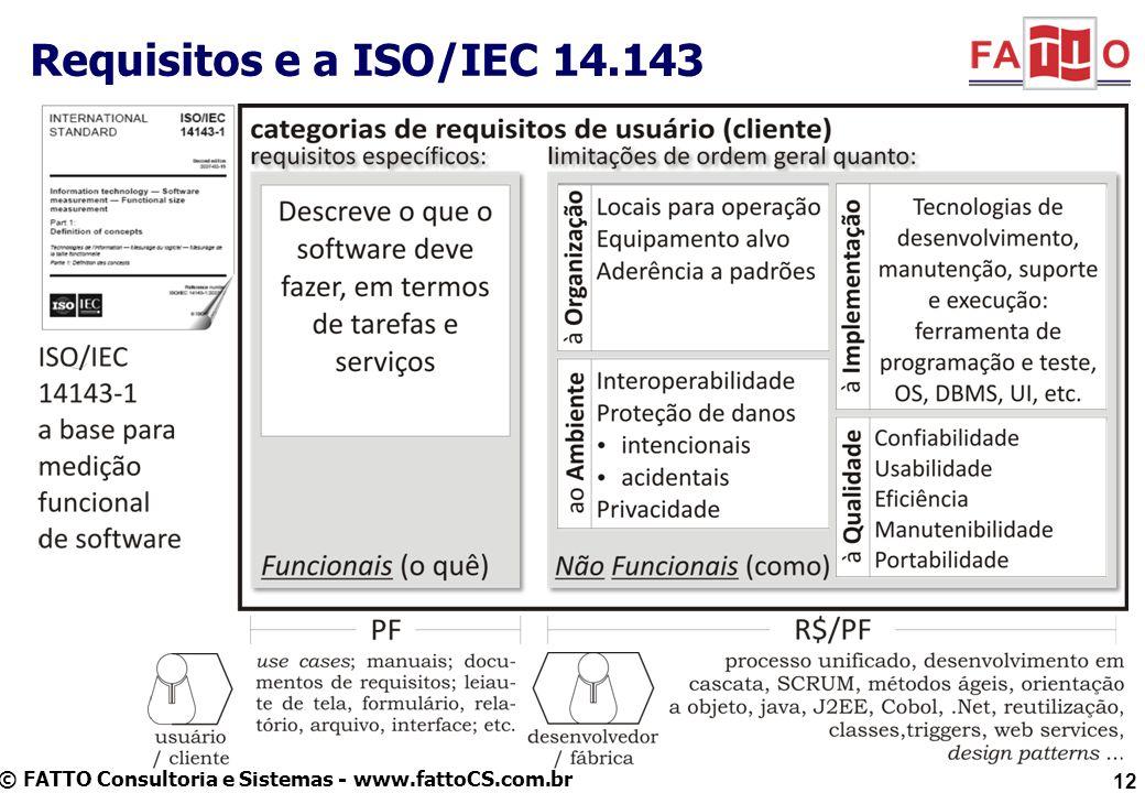 Requisitos e a ISO/IEC 14.143