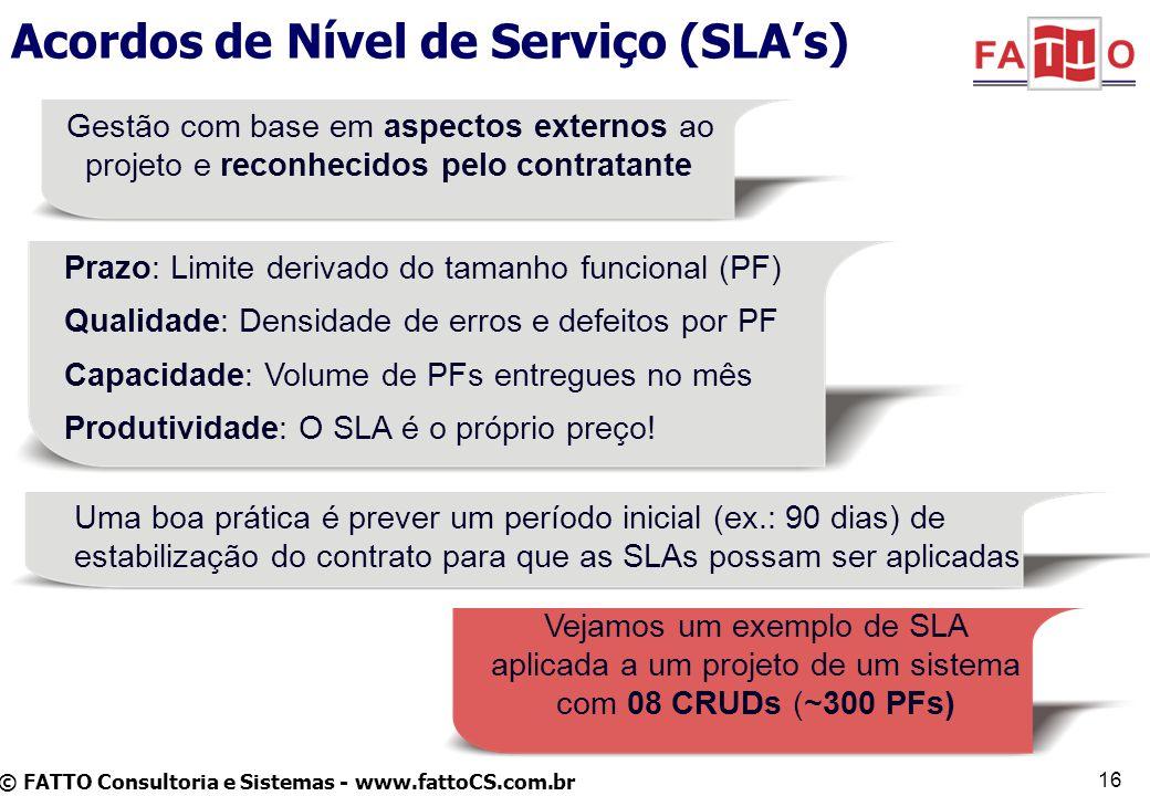 Acordos de Nível de Serviço (SLA's)