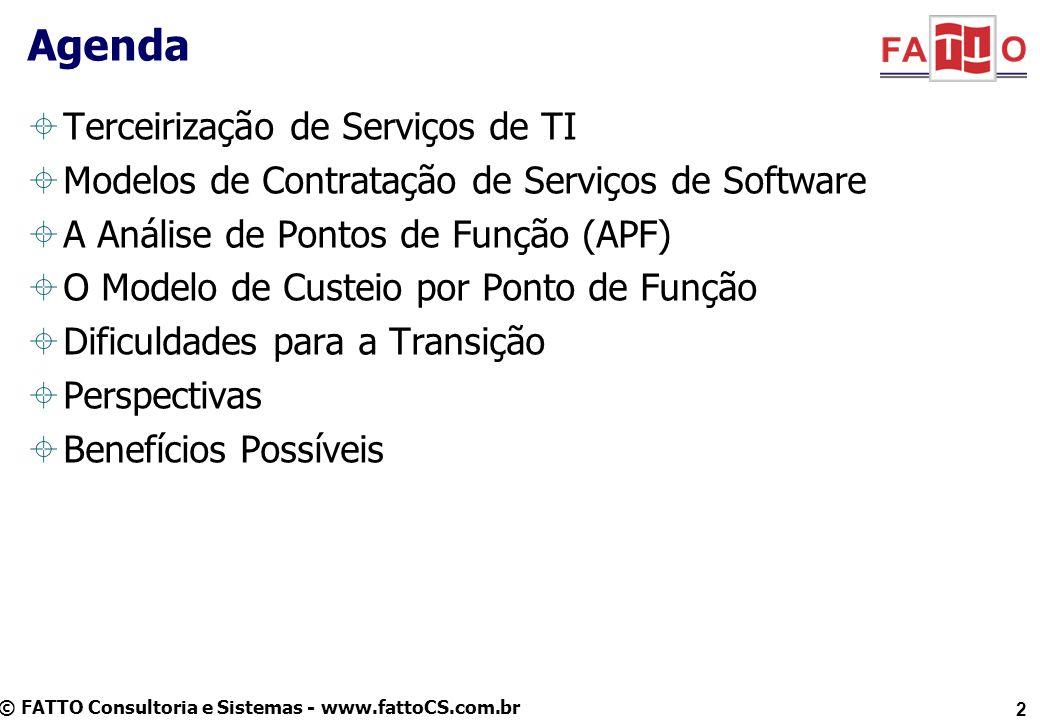 Agenda Terceirização de Serviços de TI