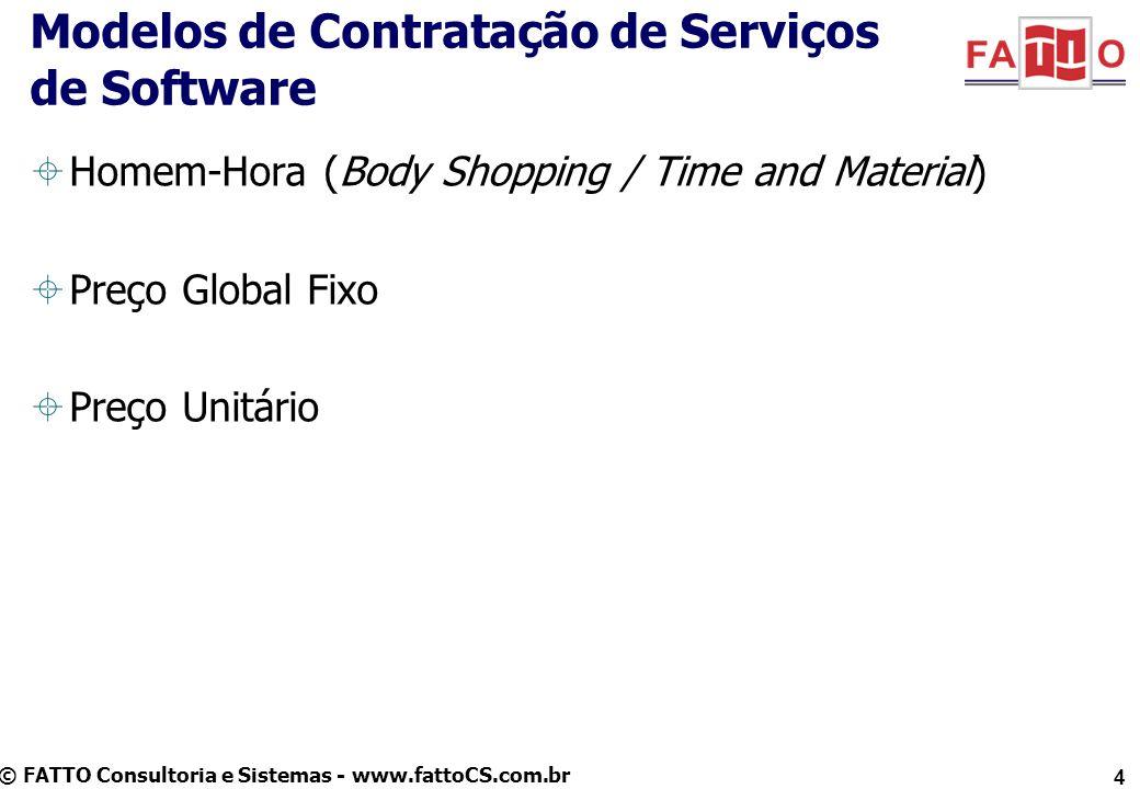 Modelos de Contratação de Serviços de Software