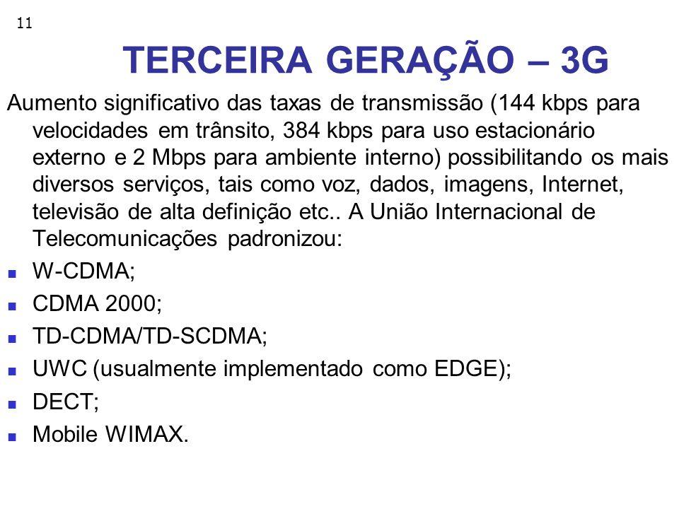 TERCEIRA GERAÇÃO – 3G