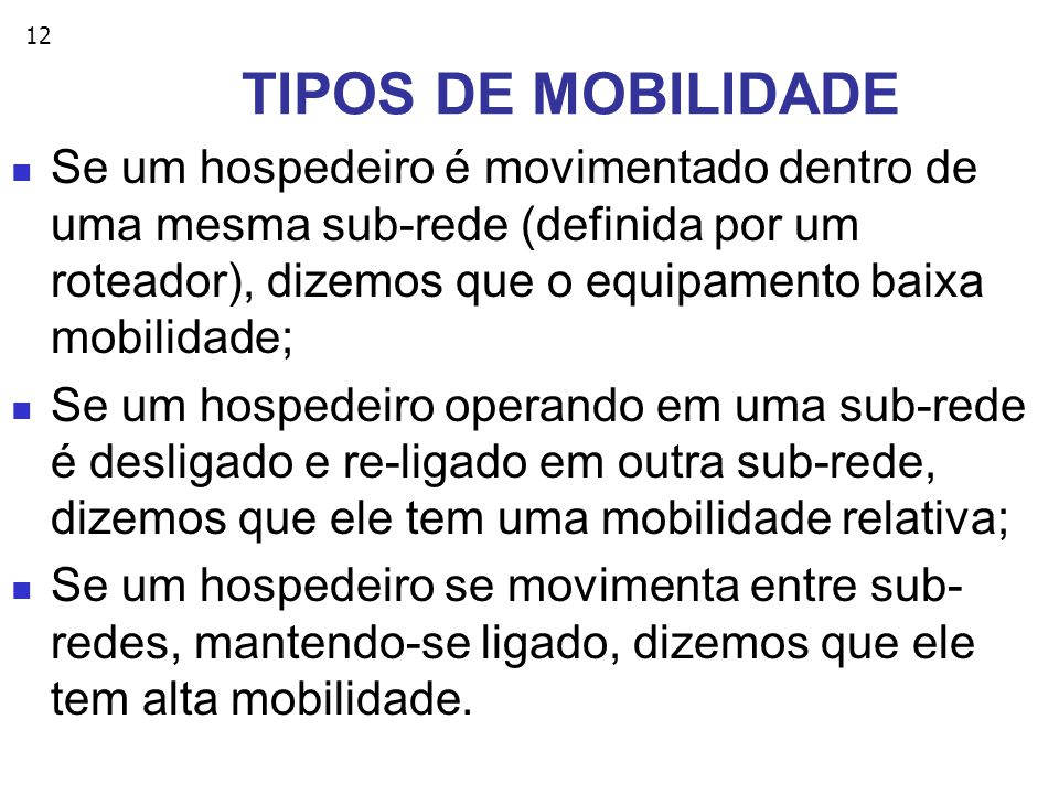 TIPOS DE MOBILIDADE