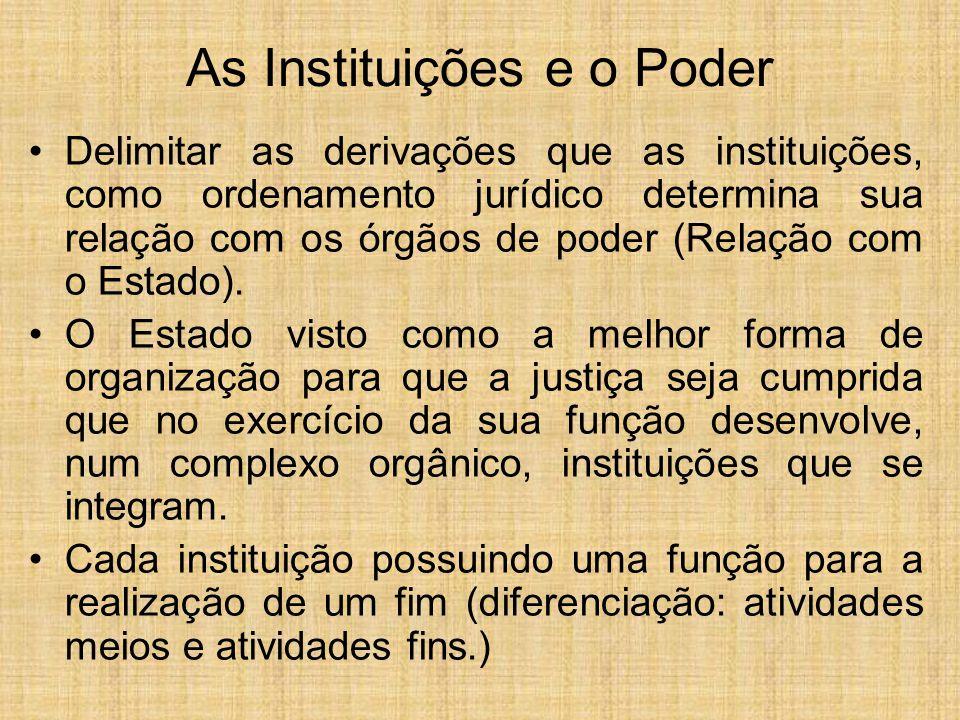 As Instituições e o Poder