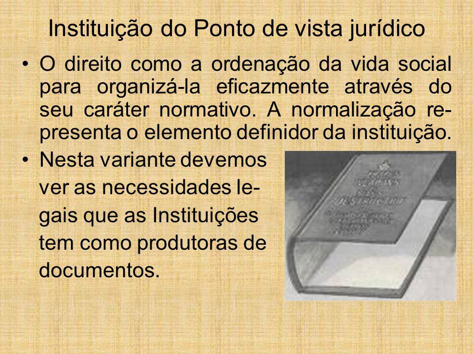 Instituição do Ponto de vista jurídico