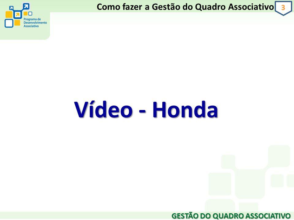 Vídeo - Honda Como fazer a Gestão do Quadro Associativo 3