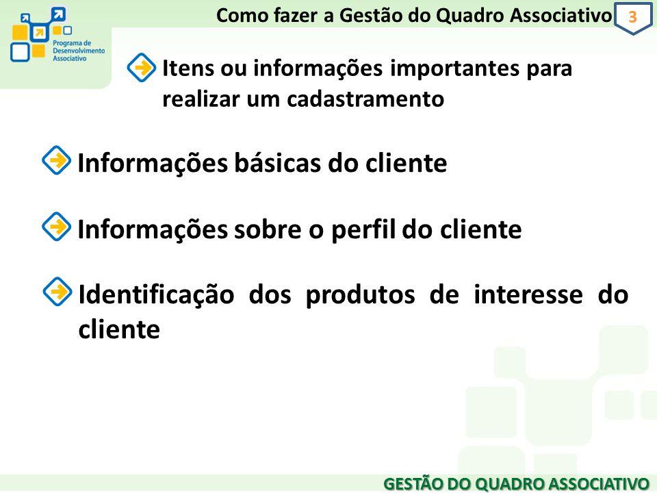 Informações básicas do cliente