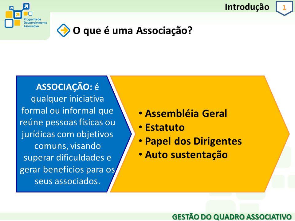 O que é uma Associação Assembléia Geral Estatuto Papel dos Dirigentes