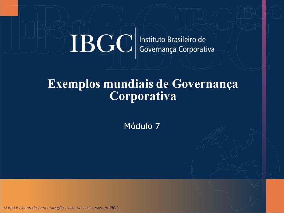 Exemplos mundiais de Governança Corporativa