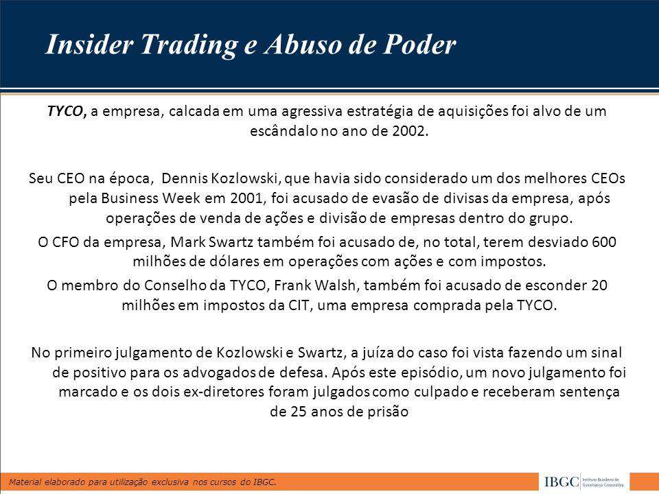 Insider Trading e Abuso de Poder