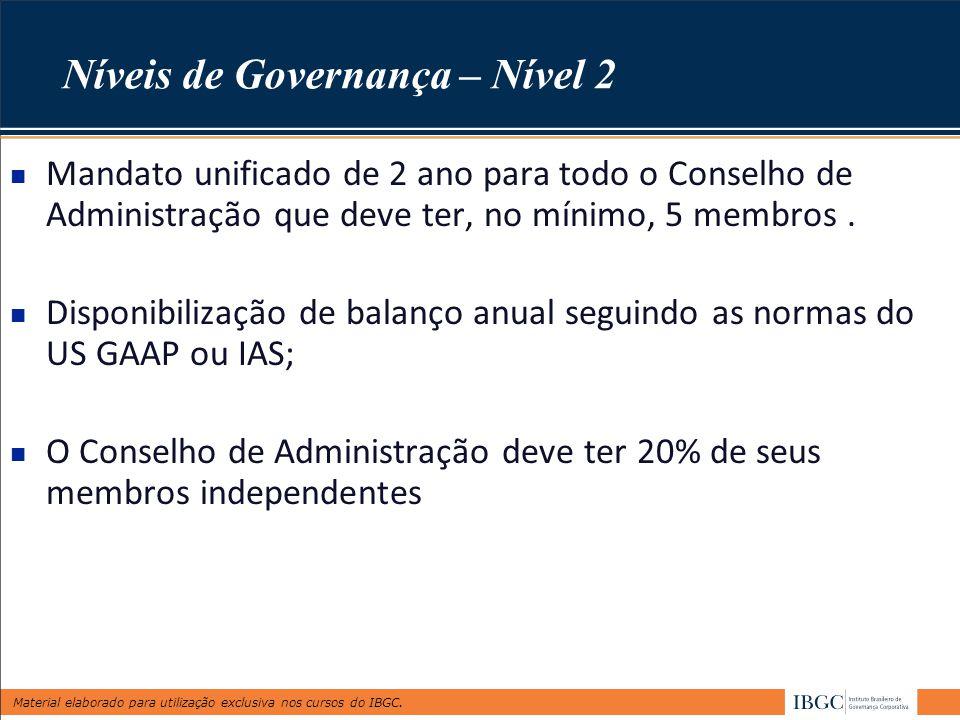 Níveis de Governança – Nível 2