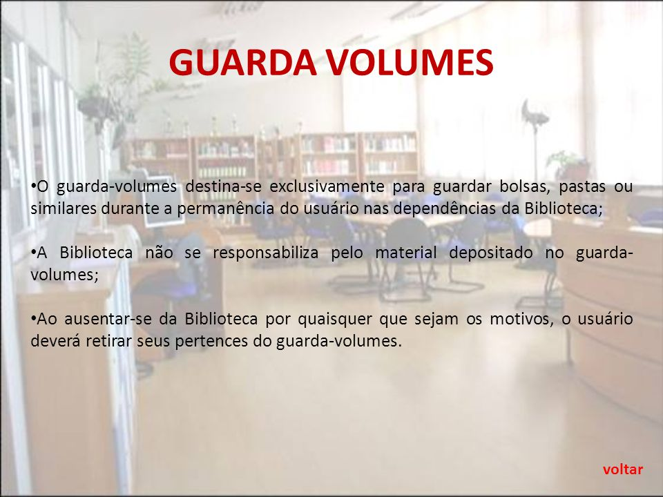 GUARDA VOLUMES