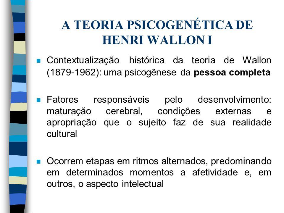 A TEORIA PSICOGENÉTICA DE HENRI WALLON I