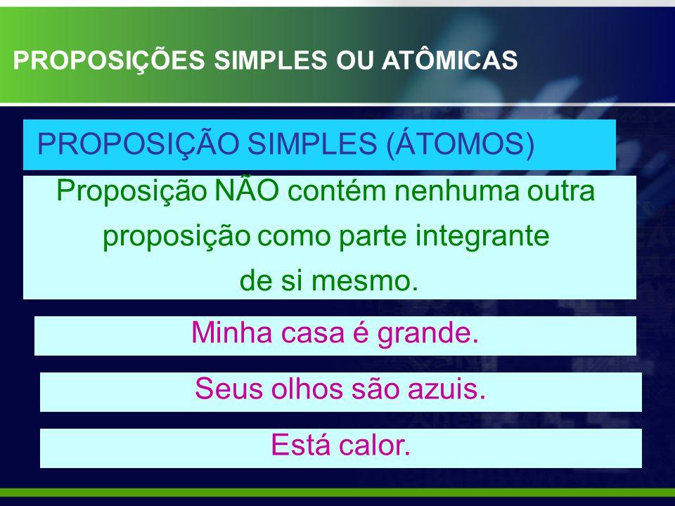 PROPOSIÇÃO SIMPLES (ÁTOMOS)