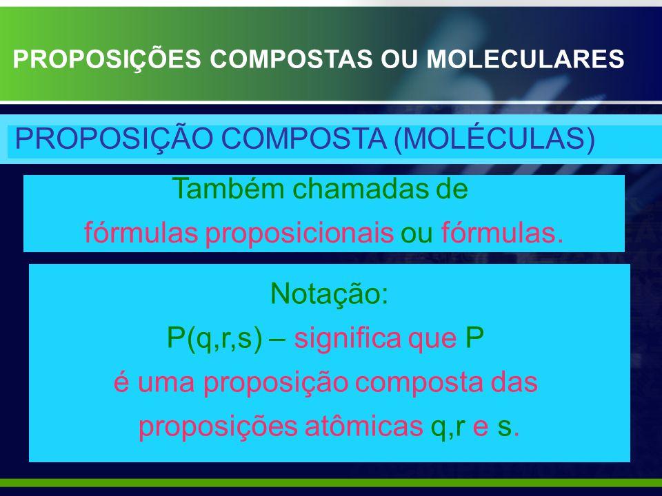 PROPOSIÇÃO COMPOSTA (MOLÉCULAS)