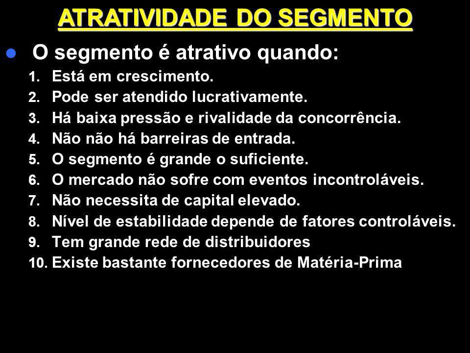 ATRATIVIDADE DO SEGMENTO
