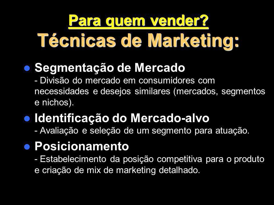 Para quem vender Técnicas de Marketing: