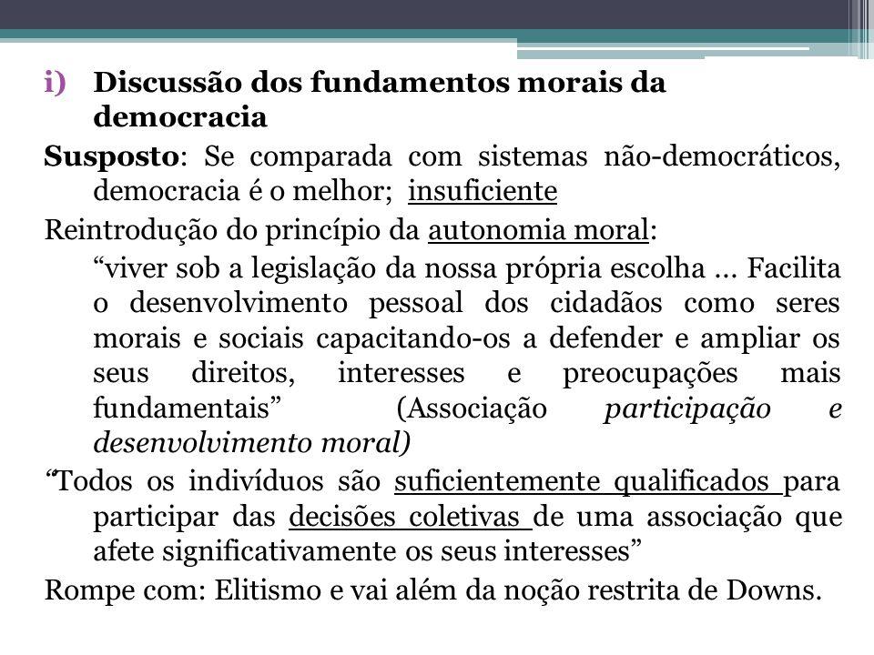 Discussão dos fundamentos morais da democracia