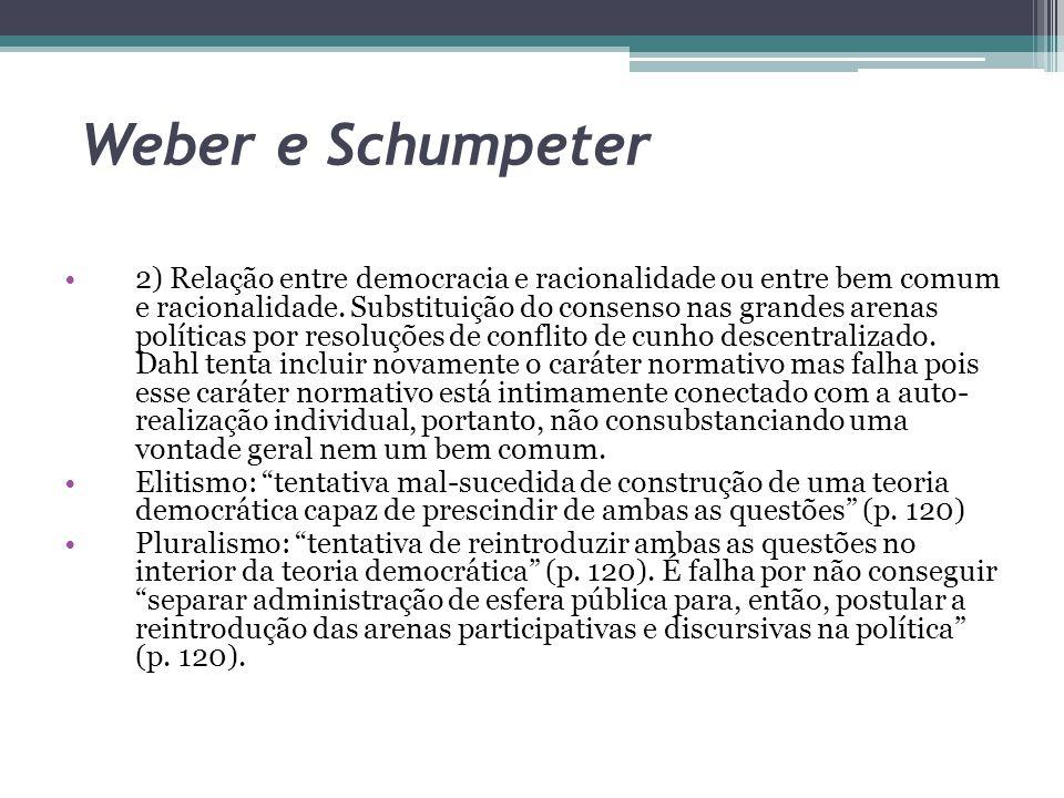Weber e Schumpeter