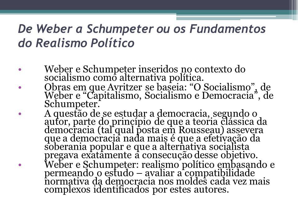 De Weber a Schumpeter ou os Fundamentos do Realismo Político