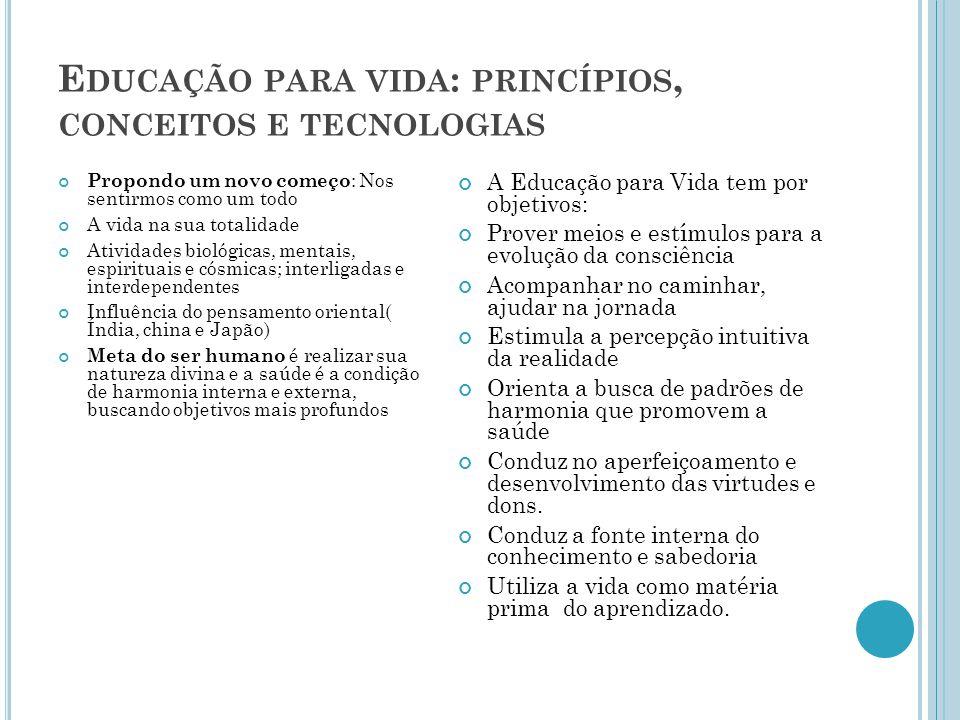 Educação para vida: princípios, conceitos e tecnologias