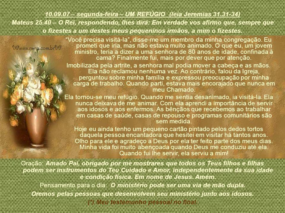 10.09.07 – segunda-feira – UM REFÚGIO (leia Jeremias 31.31-34)