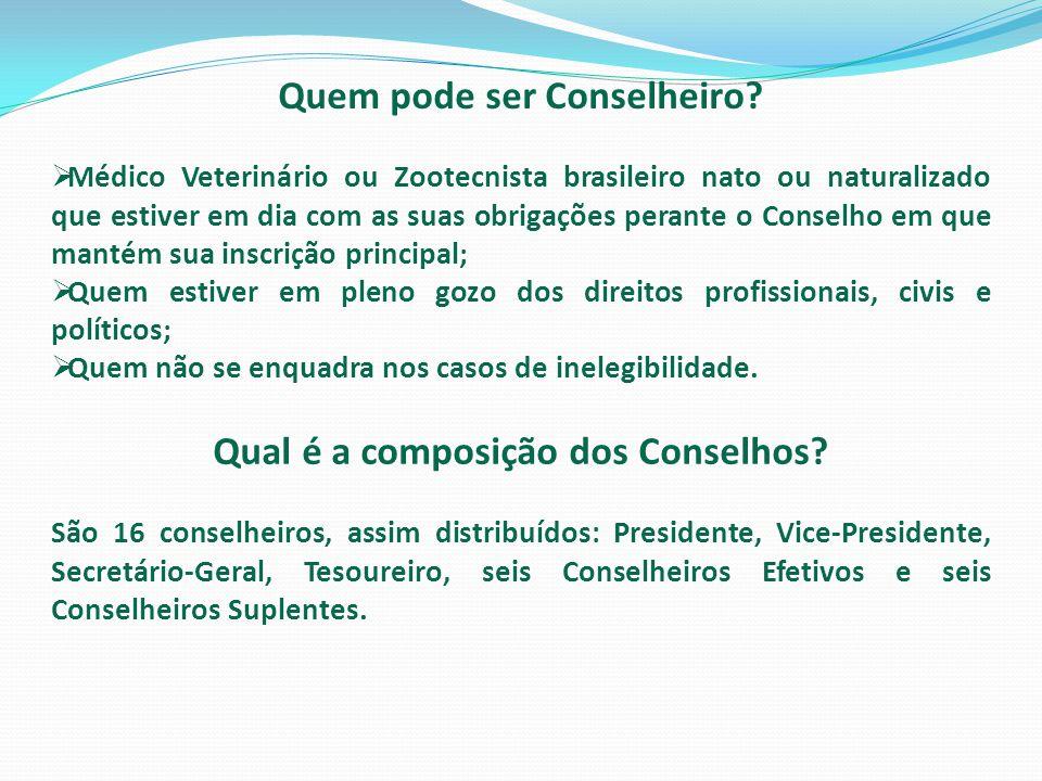 Quem pode ser Conselheiro Qual é a composição dos Conselhos