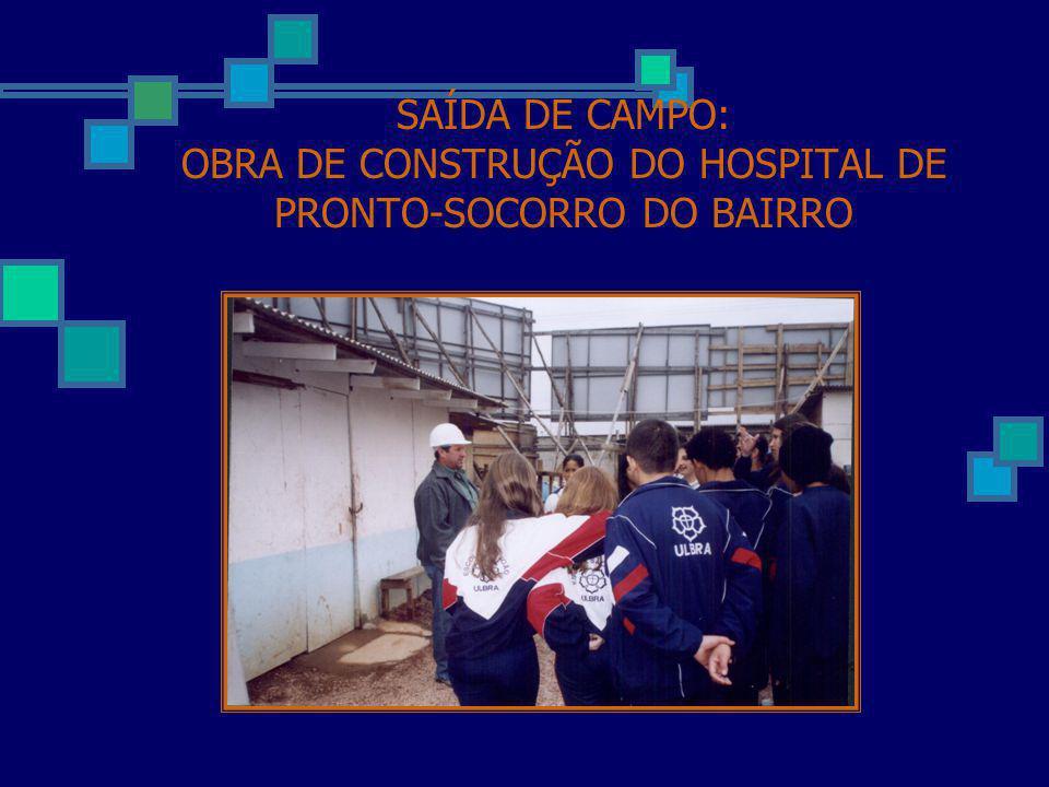 SAÍDA DE CAMPO: OBRA DE CONSTRUÇÃO DO HOSPITAL DE PRONTO-SOCORRO DO BAIRRO