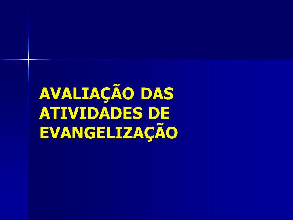 AVALIAÇÃO DAS ATIVIDADES DE EVANGELIZAÇÃO
