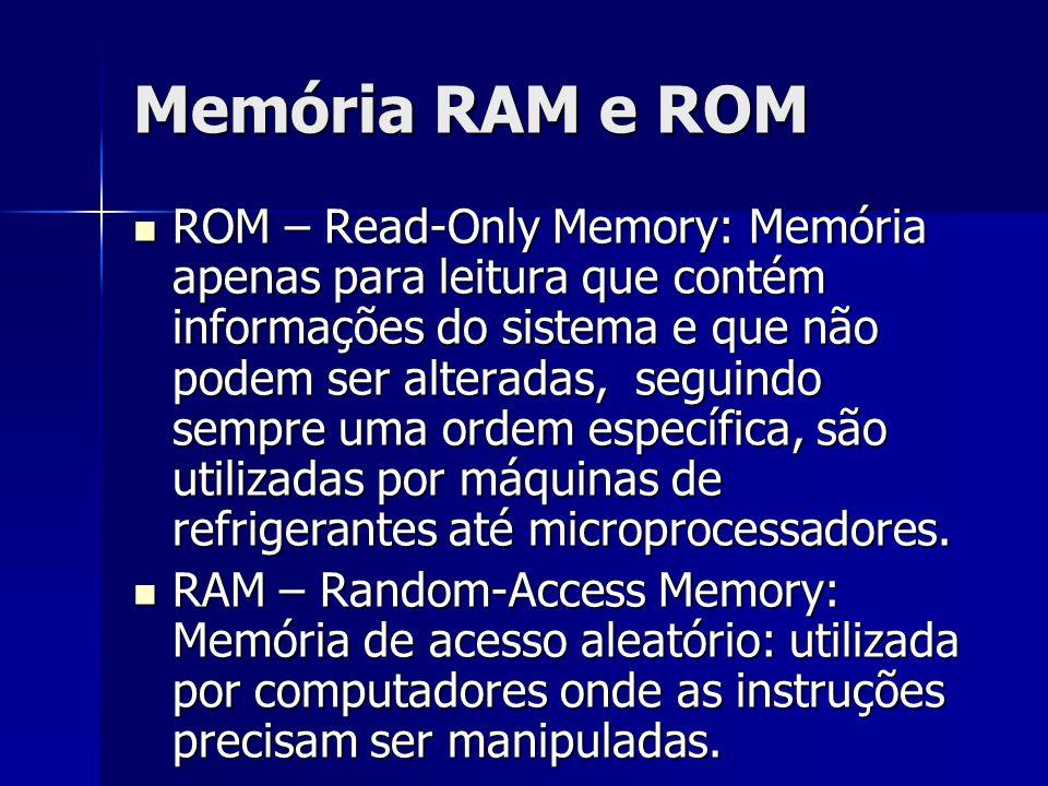 Memória RAM e ROM