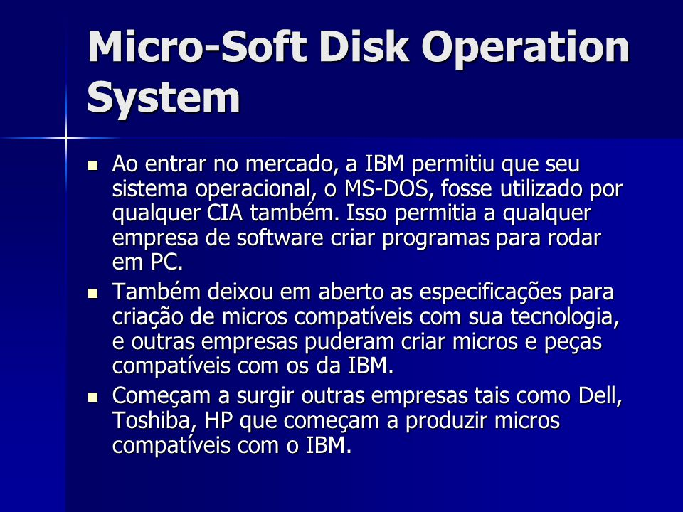 Micro-Soft Disk Operation System